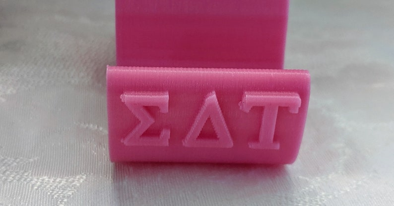 Officially Licensed Unique Sorority Gift 3D Printed Sigma Delta Tau Cat Phone Stand