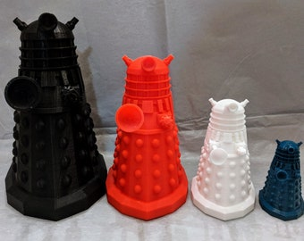 Dalek, Doctor Who-inspired Dalek, 3D Printed Doctor Who Inspired Dalek, Exterminate, Doctor Who, Dalek, Doctor Who Fan, timey wimey, Tardis