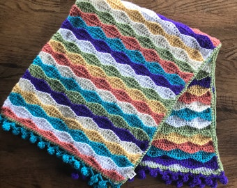 Beachy Waves Crochet Baby Blanket
