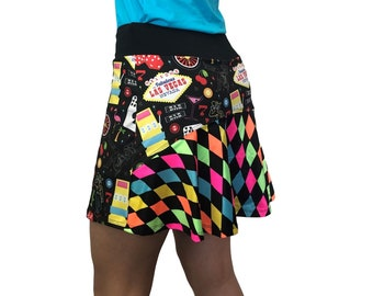 fe7ff3cd Golf Skort W/Pockets *Vegas* - Tennis, Running, Golf Skirt
