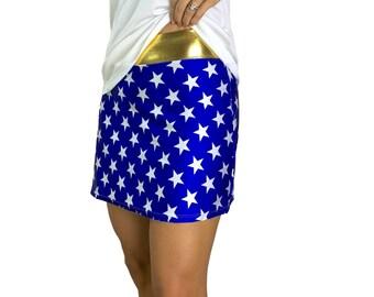 dc1821a2d938c2 Wonder Woman Athletic Slim Skort w/ pocket- tennis skirt, golf skirt,  running skirt