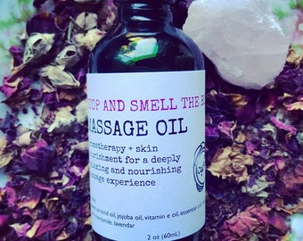 Stop and Smell the Roses Massage Oil