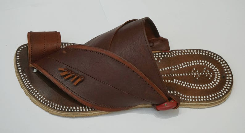 Traditional Arabian Mens Handmade Sandals Summer Leather Men's Tlc3JFK1