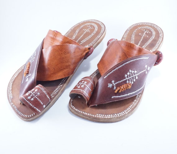 a860b51b2b7b8 Men's handmade leather sandals / Men's traditional leather sandals / Men's  Arabian sandals / Great for outdoors, parks, beaches and Earthing