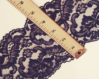 "10 Yards 5"" Navy Blue Lace Trim @ 1.00 the yard"
