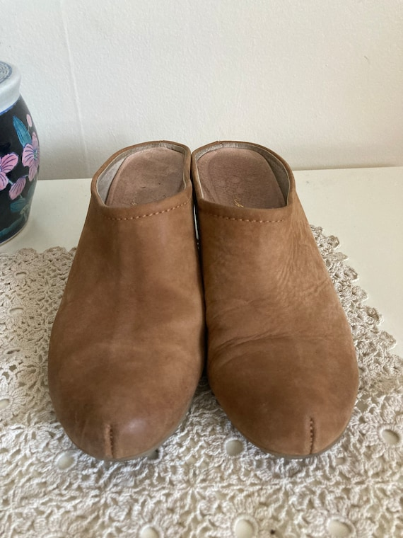 Vintage Suede Leather Mules/Clogs