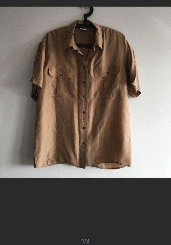 Vintage Silk Tan Blouse