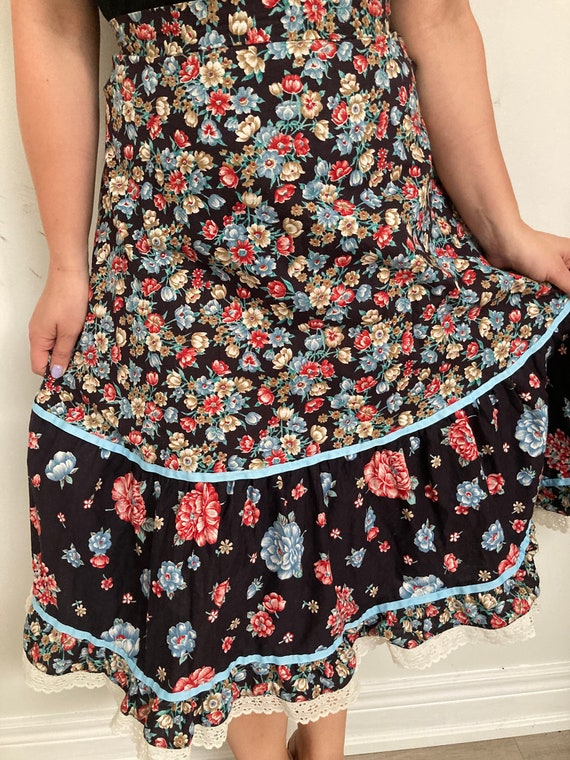 Vintage Floral Pilgrim prairie Skirt - image 2