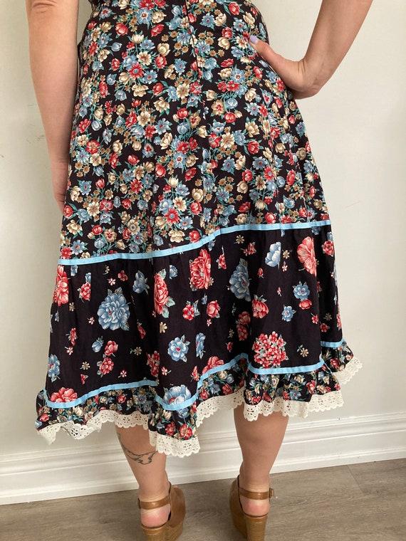 Vintage Floral Pilgrim prairie Skirt - image 3