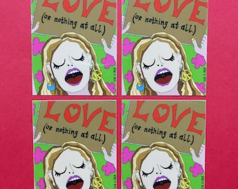 LOVE (or nothing at all.) Illustration Sticker