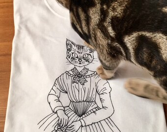 New Cat Tee Emily Dickinson