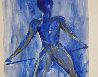 Blue male life study A1