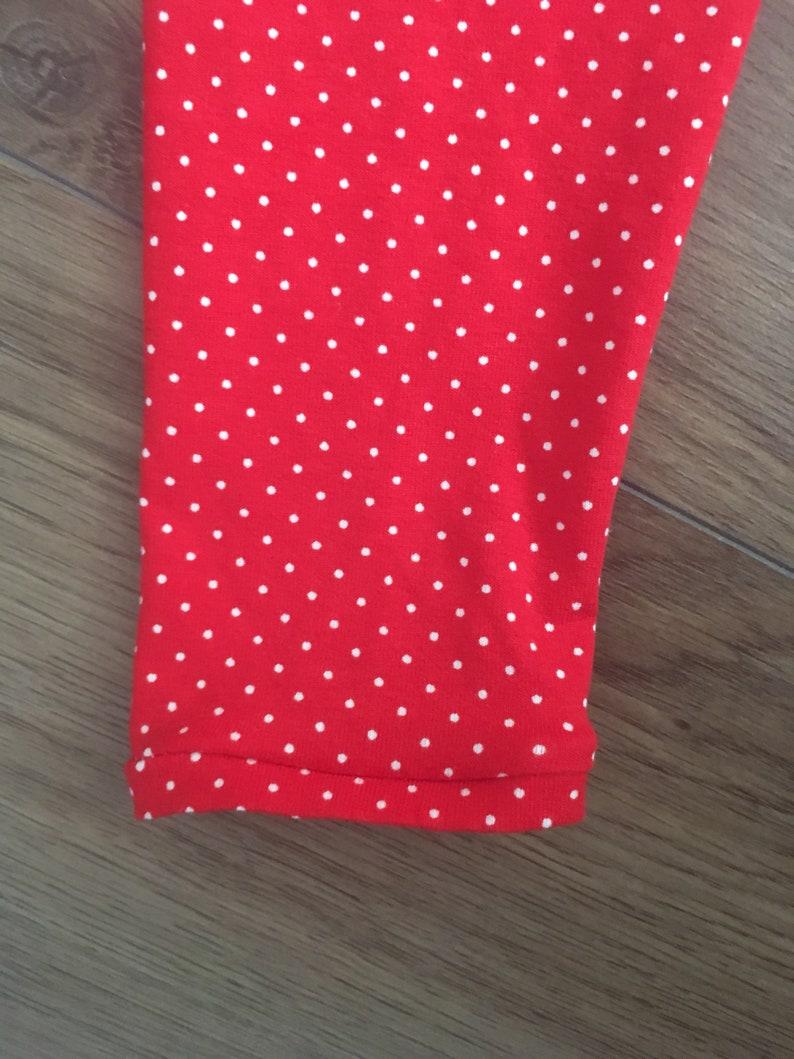 Girls  red  polka dot  leggings  girls leggings  toddler leggings  toddler