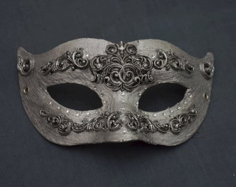 Silver Baroque Mask