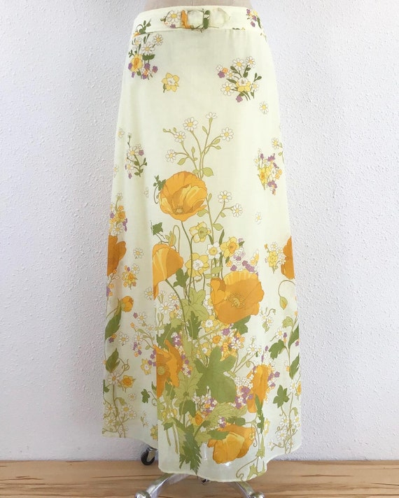 Vintage 1960s country floral maxi skirt, Vintage f