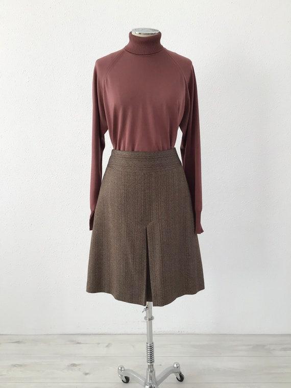 Striped vintage evase midi skirt, Vintage midi ski
