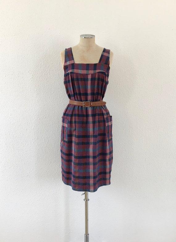 Vintage plaid purple dress, Vintage dress, Vintage