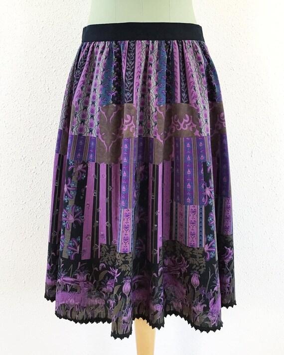Vintage floral midi skirt, Floral midi skirt, Vint