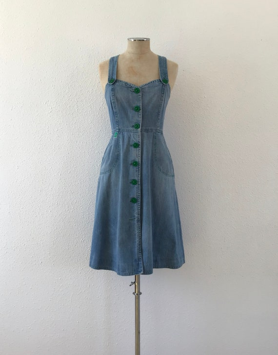 Vintage denim dress, Denim dress, Vintage dress, v