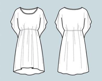Dress sketch | Etsy