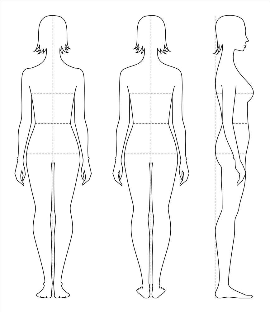 Female Figure Vector Sketchfashion Croquiswoman Etsy
