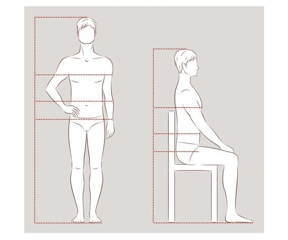 Male Figure Vector Sketch Fashion Croquis Man Silhouette Adobe Illustrator Design Template Proportion Digital Eps Ai Jpg Png