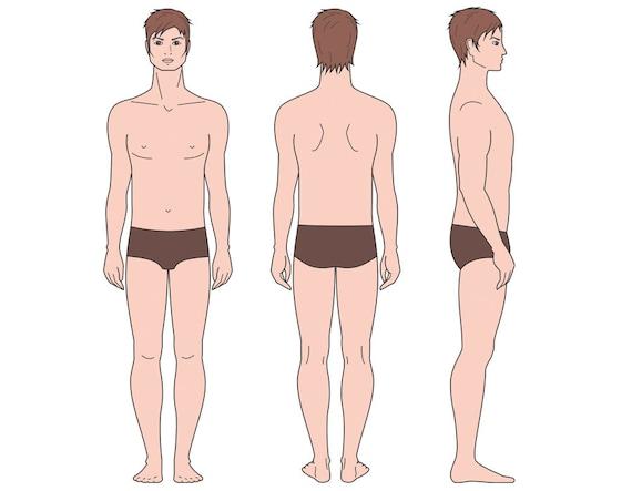 Male Figure Vector Sketch Fashion Croquis Man Silhouette Adobe Illustrator Design Template Proportion Digital Art Eps Ai Jpg Png File