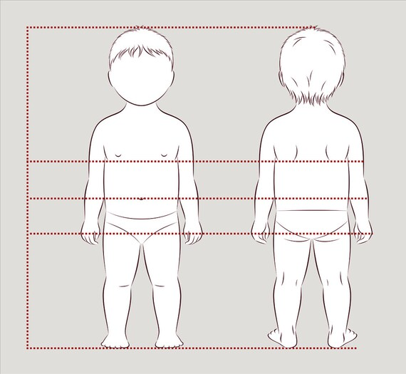 Baby / Kleinkind Figur Vektor-Skizze Mode Croquis Kind   Etsy