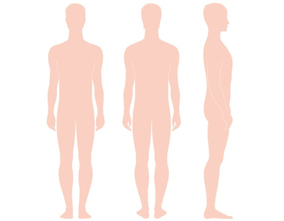 Male Figure Vector Sketch Fashion Croquis Woman Silhouette Adobe Illustrator Design Template Proportion Digital Art Eps Ai Jpg Png