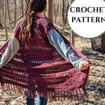 Boho Gypsy Crochet Fringe Vest Pattern PDF download | boho top | festival top pattern | crochet vest | crochet beach cover up | fringe vest