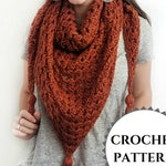 Easy Beginner Crochet Triangle Scarf Pattern PDF | simple crochet scarf | easy crochet shawl | granny triangle shawl | granny square pattern
