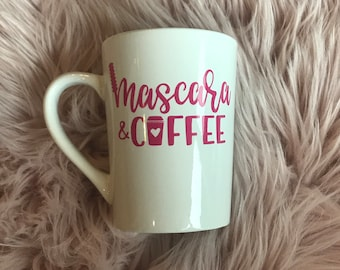Mascara and coffee  coffee mug