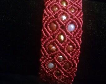 Customized Latticework Macrame Bracelet