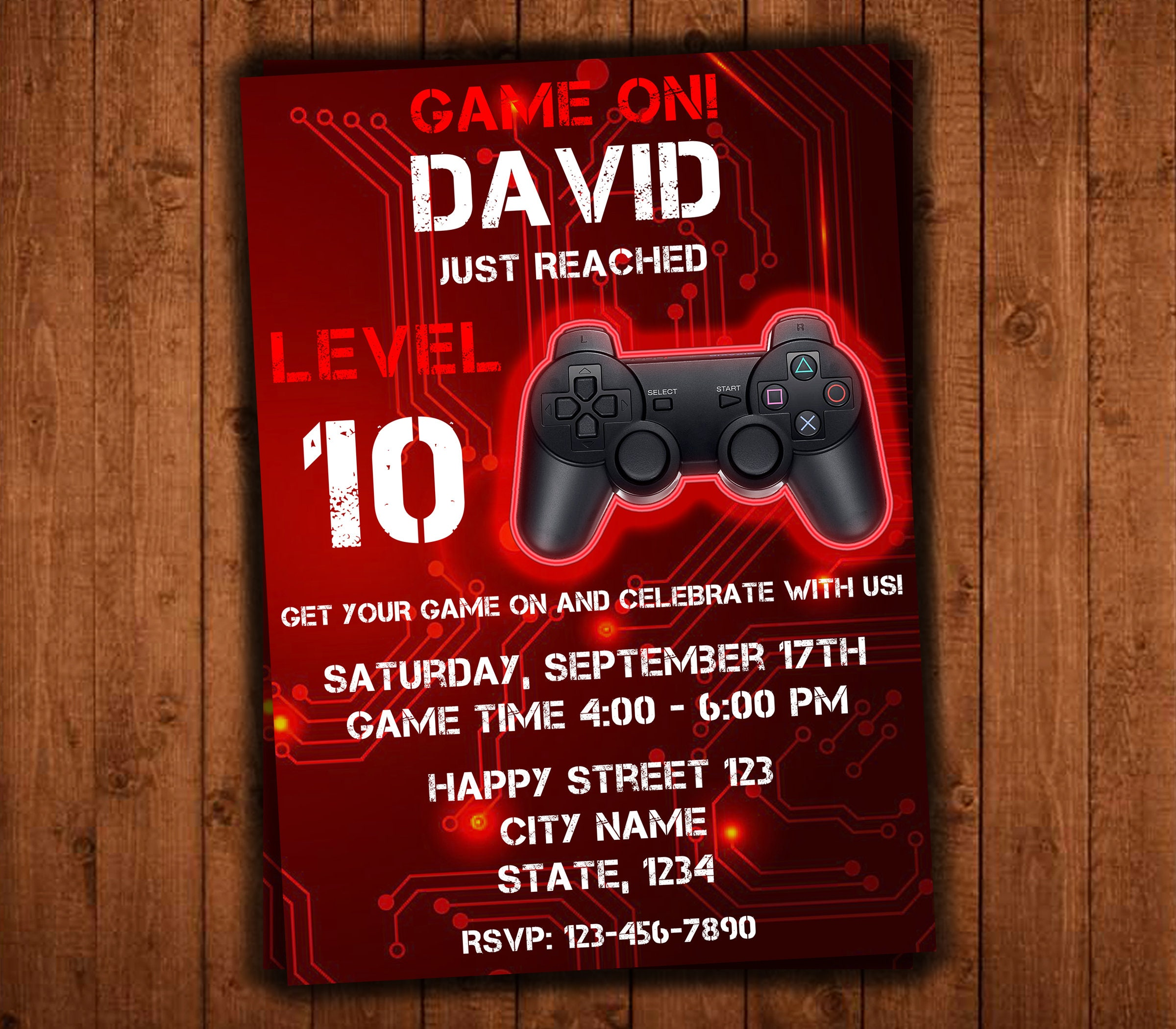 Video Game Invitation Video Game Party Invitations Video | Etsy