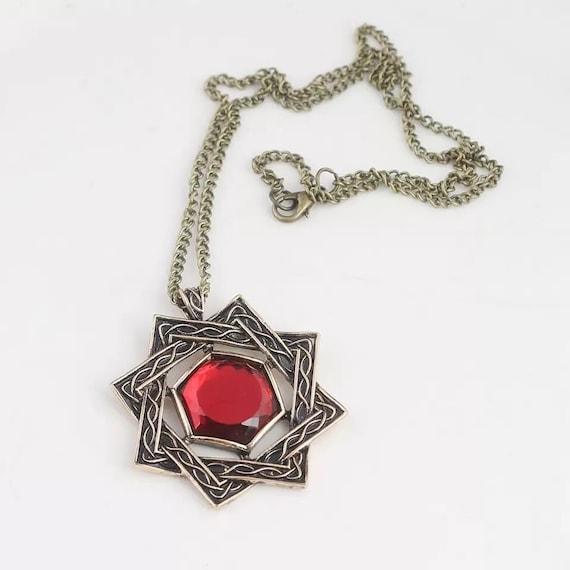 The Elder Scrolls 5 Skyrim Akatosh Amulet Pendant Necklace Nice Neu