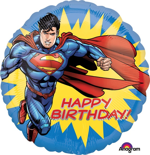 "Balloon 18/"" Superman Hero Cartoon Mylar Foil Party Decoration Gifts"