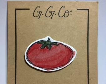 "Pin - ""Tomato"" - Original Sketch"