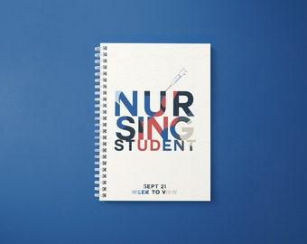 September 2021 Planner for Nursing Student  -'FONT'  Week to View Format