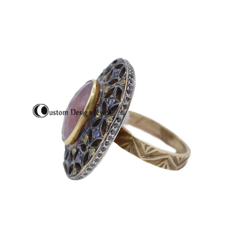 Oval Ring Baho Ring Sapphire Ring Sapphire Gemstone Ring Gemstone Ring Bridal Ring-Eternity Pink Sapphire Ring 925 silver ring