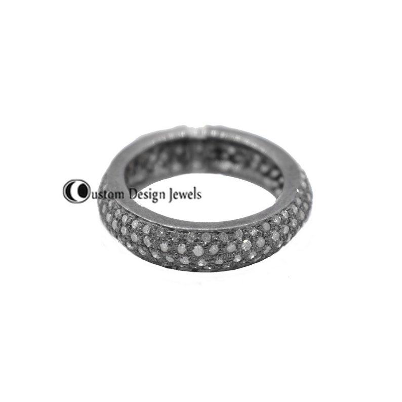 Diamond Band Band Ring 925 Silver Band Ring Eternity Band Pave diamond Band Eternity ring 14k Gold Plated Ring bands Diamond Band