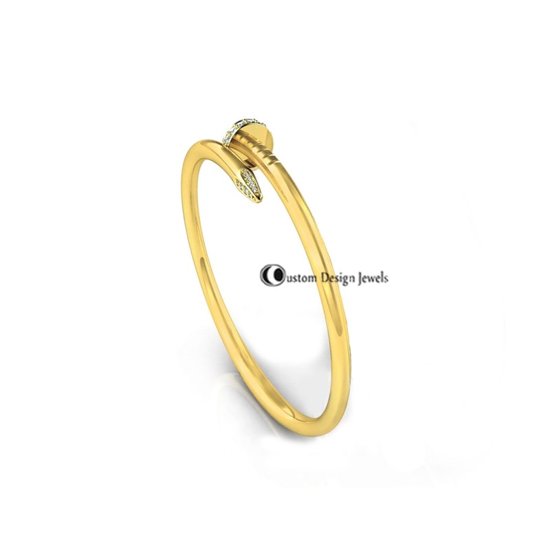 925 Sterling Silver Gold Plated Bangle Pave diamond Screw Bangle Designer Gold Plated Bangle