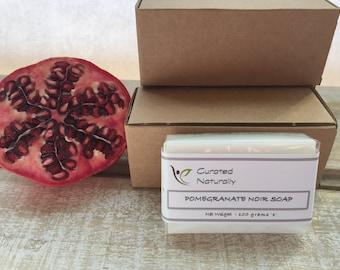 100g Pomegranate Noir Handmade Soap Goats Milk Ideal Gift Handmade Soap UK Natural Colour Gift Curated Naturally UK