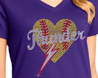 Baseball Volleyball Soccer Heart ndk1571 Womens Perfect Weight V-Neck Tee
