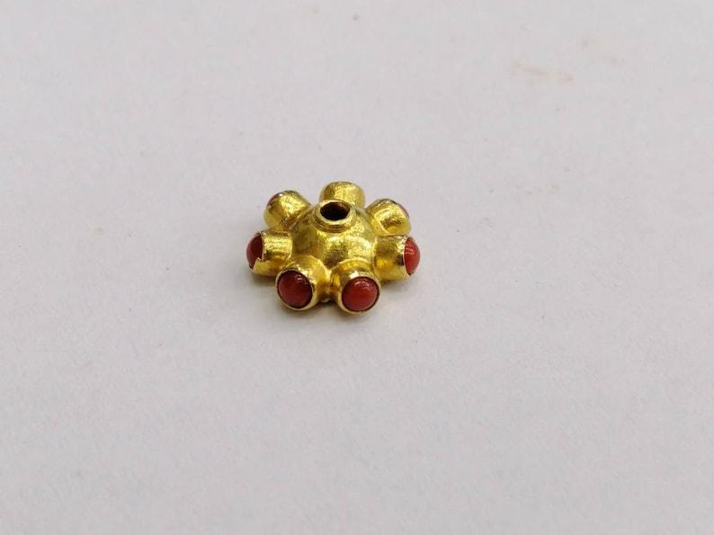 Beautiful 1 Pcs 18K Solid Gold Hand Made 4X10.5mm Fancy Cap
