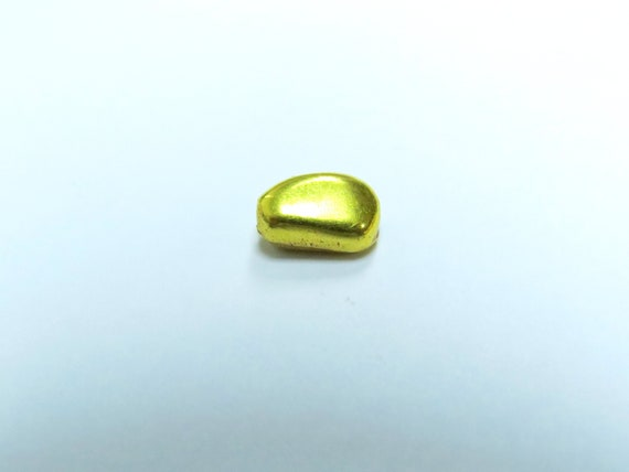Allvring 18K Yellow Gold Hand Made Fancy Bead 7x5mm
