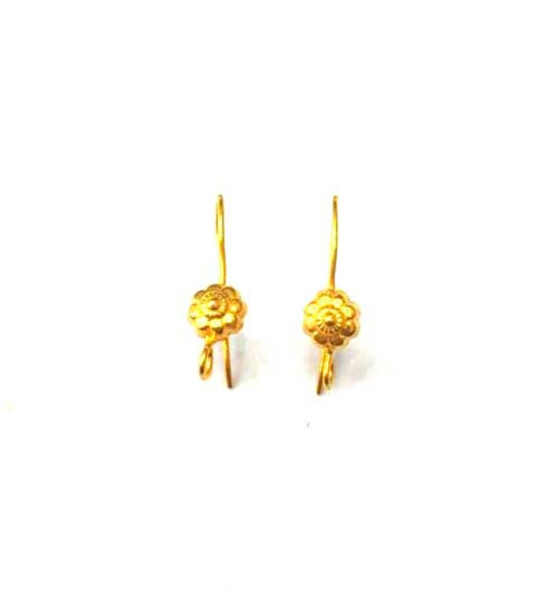 Wholesale 18K Solid Gold Hand Made Earring Hook.