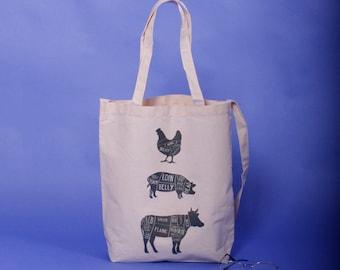 5037d4f7aed Vintage pictures tote bag   two way bag  shopping bag   canvas bag   handmade bag  ECO bag