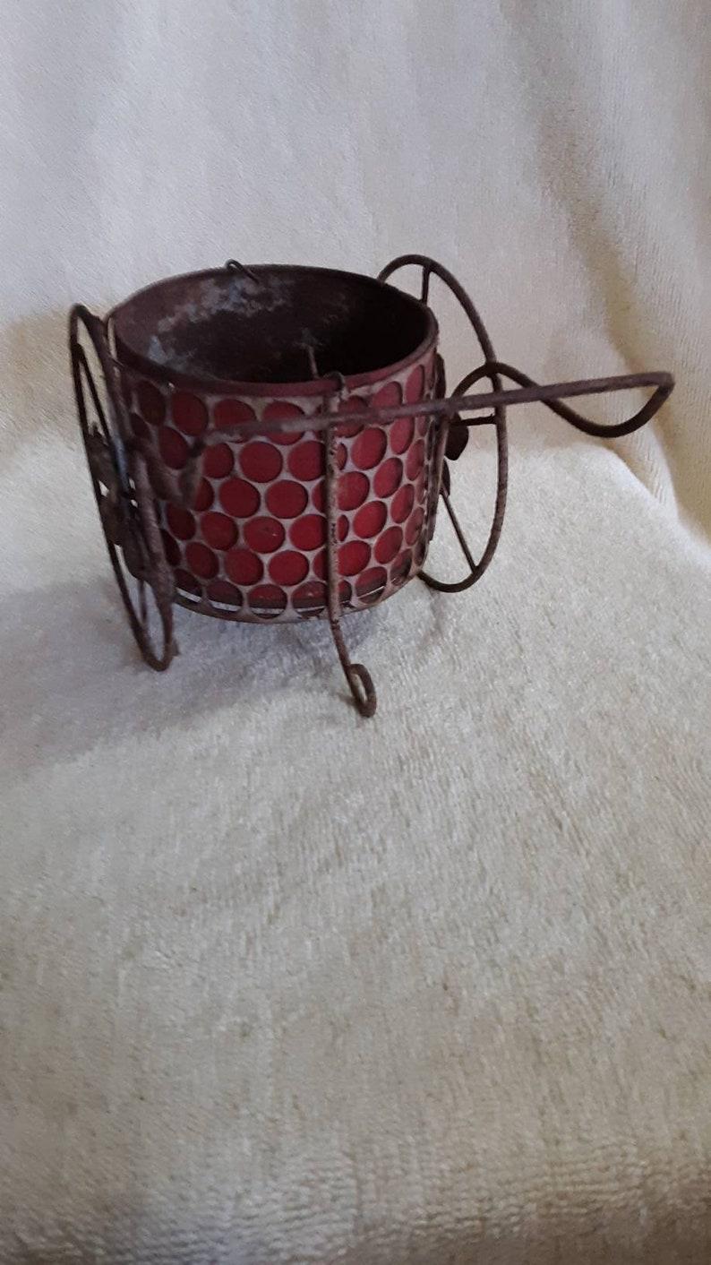 Vintage Rustic Wheel Barrow Planter