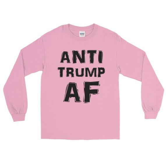 1a2645388bd9be Anti Trump Womens Pink Long Sleeve T-Shirt Women s