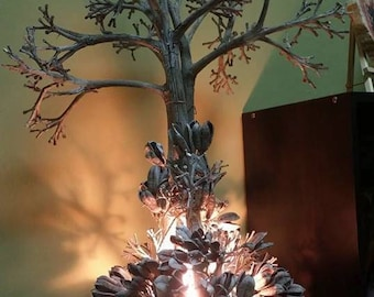 Handmade Lampshade, made from Pecan Branches, Individual piece, giving nature a little light.